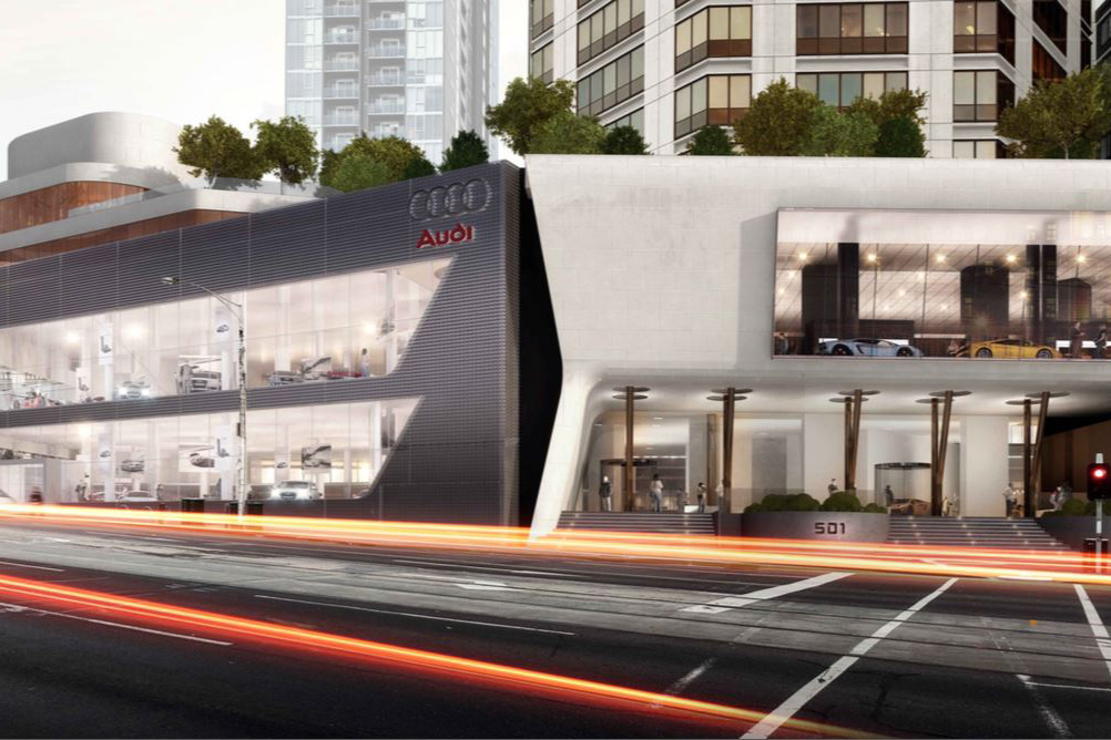 <strong>Audi 501 Swanston Street Melbourne<span><b>view larger</b></span></strong><i>→</i>